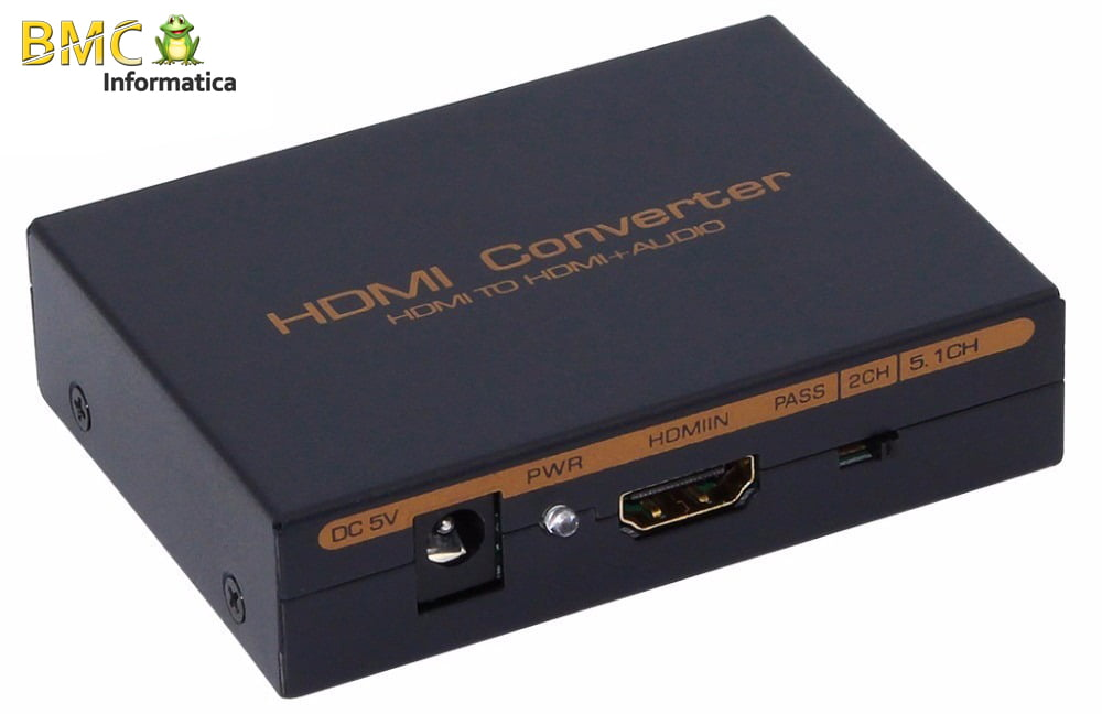 Extrator de Áudio HDMI Digital e Analógica