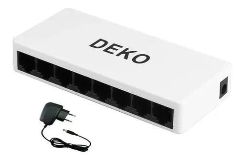 Switch de Rede 8 Portas Ipv4/6 10/100/1000mb - Deko