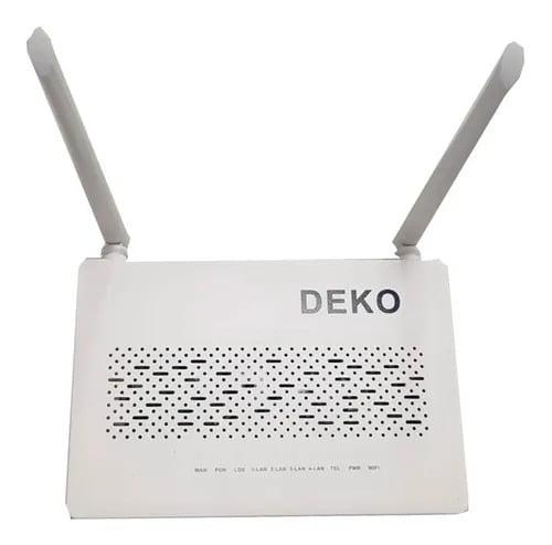 ONU GPON Roteador Wifi Fibra Ótica com 4 portas - Deko