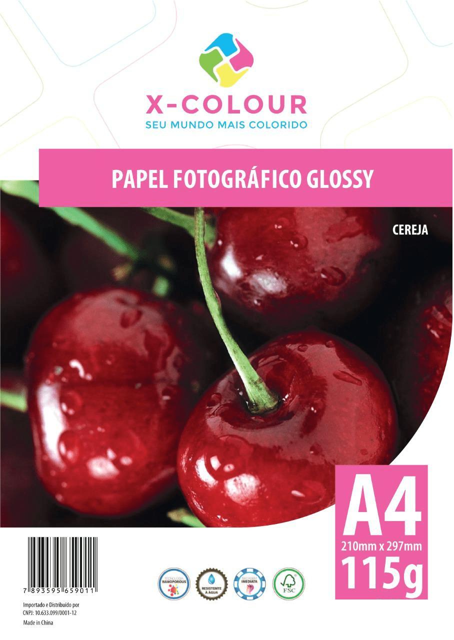 Papel Fotográfico  Glossy A4 210X297mm 115g