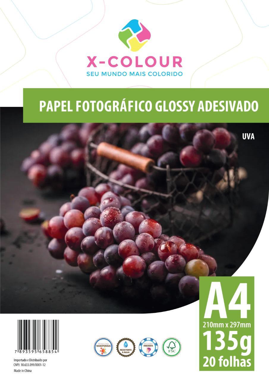 Papel Fotográfico Glossy Adesivado A4 210X297mm 135g