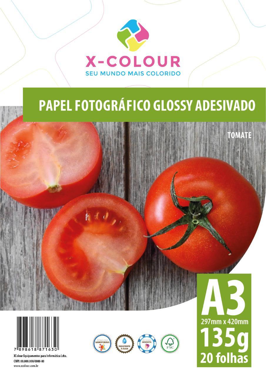 Papel Fotográfico Glossy Adesivado A3 297X420mm 135g