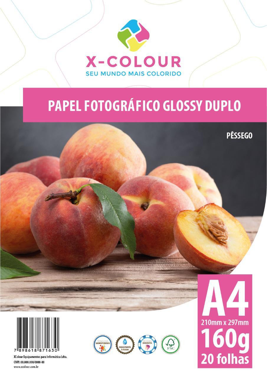 Papel Fotográfico Glossy Duplo A4 160g