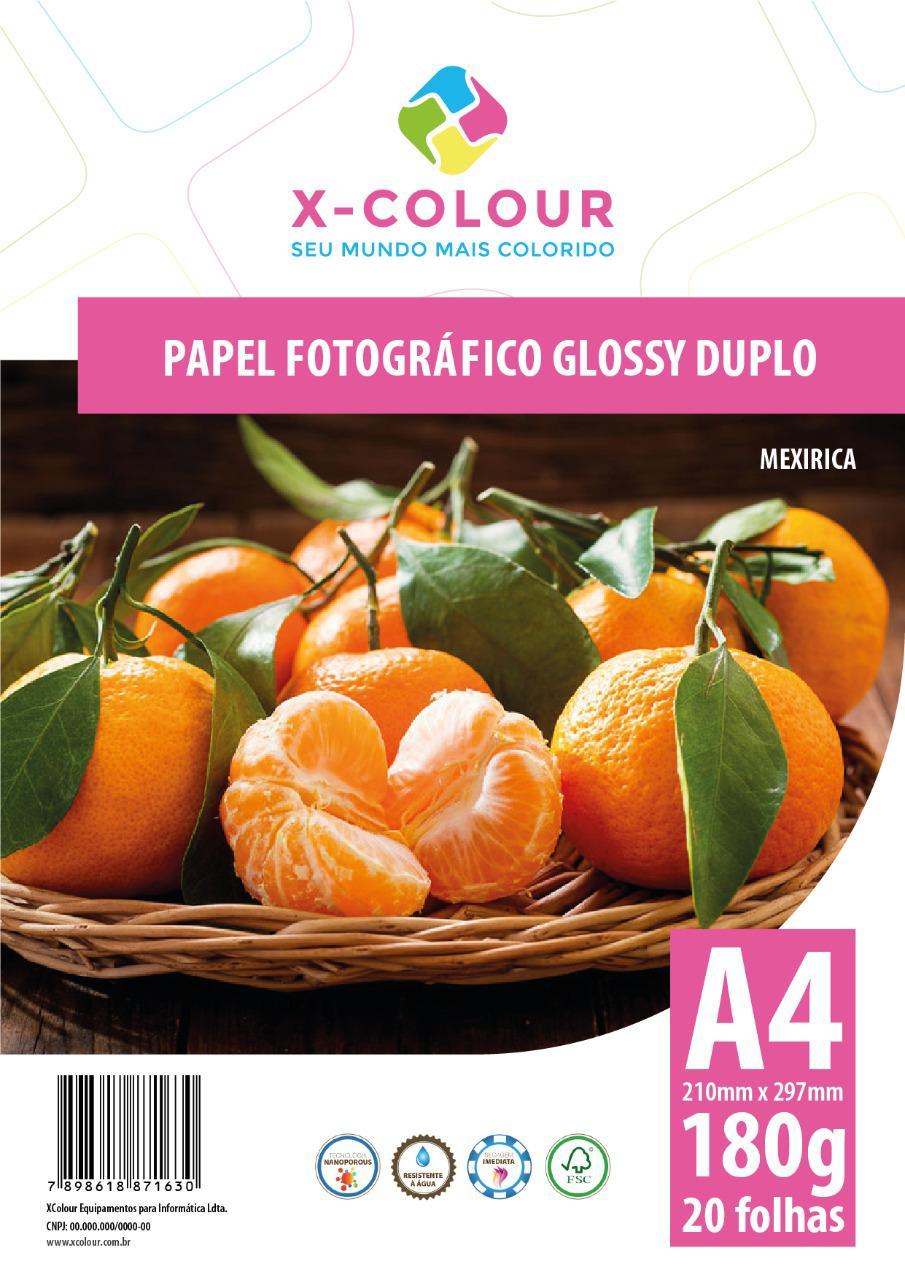 Papel Fotográfico Glossy Duplo A4 180g