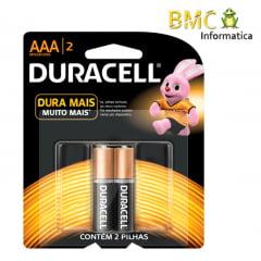 Pilha Duracell AAA com 2 Unidades