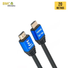 Cabo Ultra HDMI 20 Metros 2.0 4K 19 Pinos @60Hz Penton