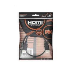 Cabo Ultra HDMI 50cm 2.0 4K 19 Pinos @60Hz PIX