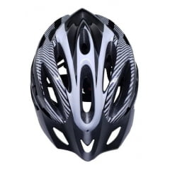 Capacete de Bicicleta com Sinalizador Element - Preto/Branco