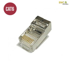 Conector Blindado RJ45 CAT6 Macho 8 VIAS CONNECT