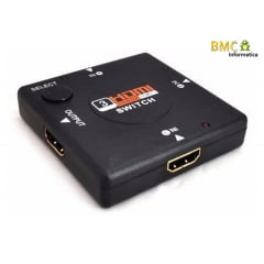 Switch HDMI 3x1 Full HD 1080P 3D PVC