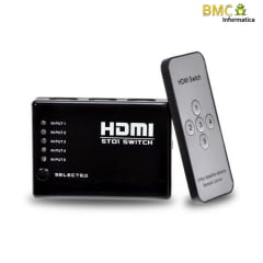 Switch HDMI 5x1 Full HD 1080P 3D PVC